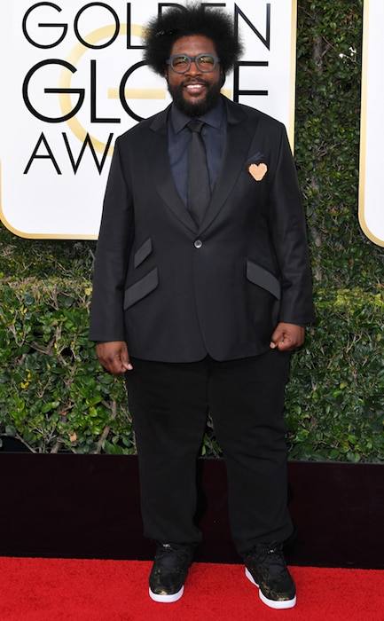 Questlove, 2017 Golden Globes, Arrivals