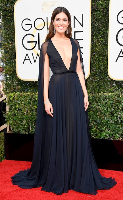 Mandy Moore, 2017 Golden Globes, Arrivals