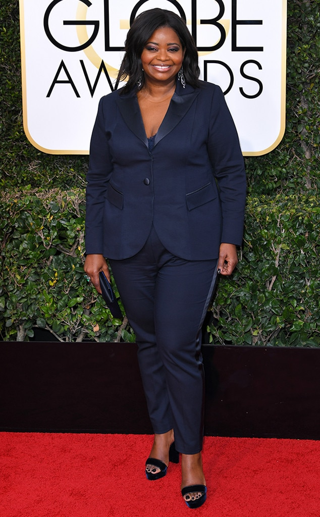 Octavia Spencer, 2017 Golden Globes, Arrivals