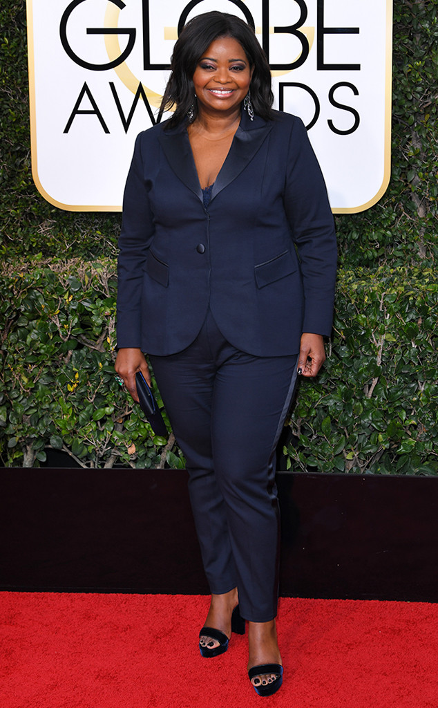 Octavia Spencer, 2017 Golden Globes, Arrivals