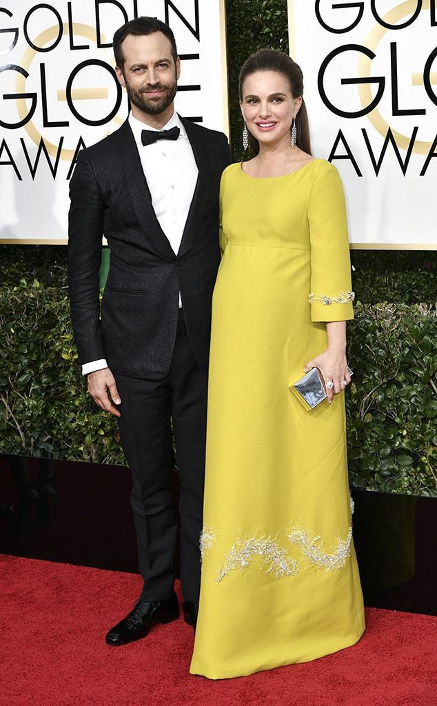 Benjamin Millepied, Natalie Portman, 2017 Golden Globes, Couples