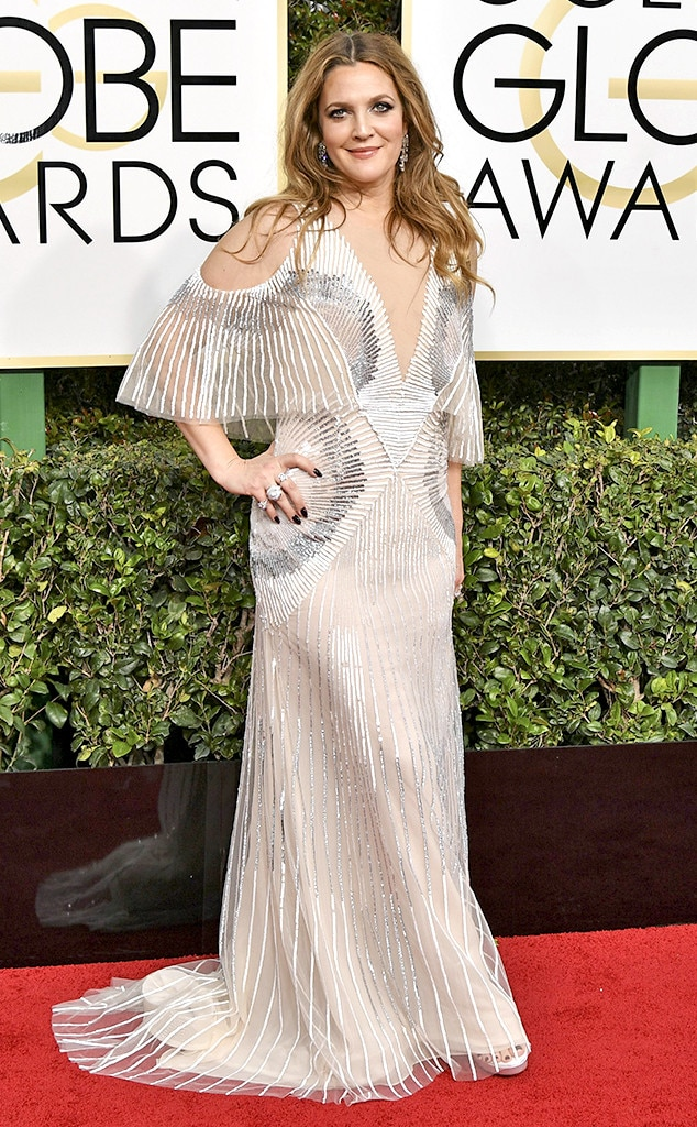 Drew Barrymore, 2017 Golden Globes, Arrivals