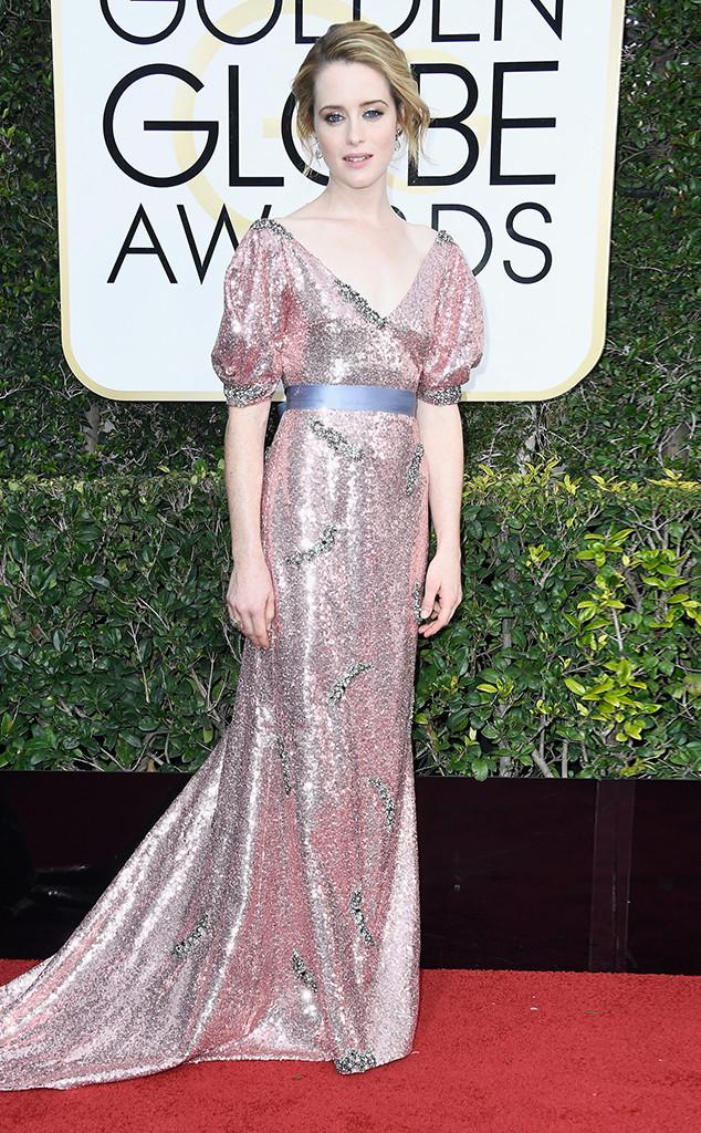 Claire Foy, 2017 Golden Globes, Arrivals