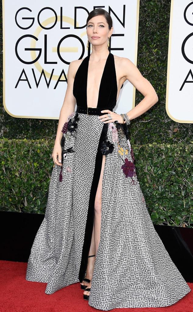 Jessica Biel, 2017 Golden Globes, Arrivals