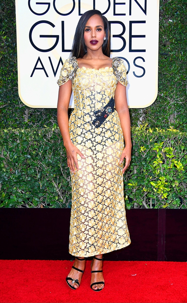 Kerry Washington, 2017 Golden Globes, Arrivals