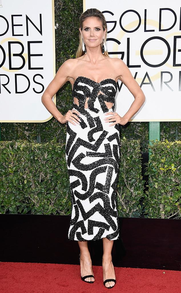 Heidi Klum, 2017 Golden Globes, Arrivals