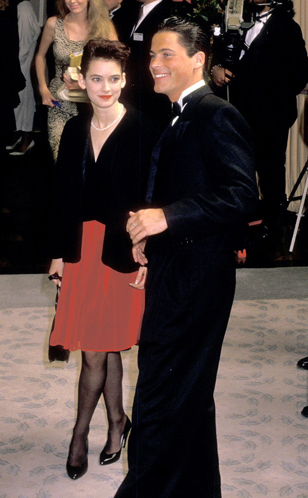 Rob Lowe, Winona Ryder, 1988 Golden Globes