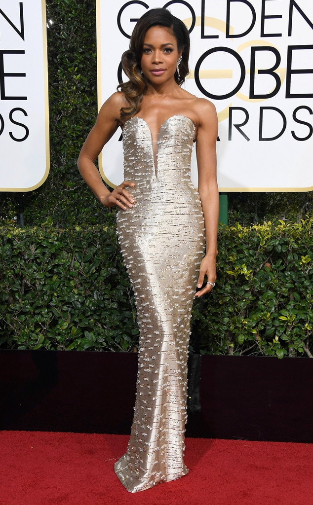 2017 Golden Globes Red Carpet Arrivals Naomie Harris, 2017 Golden Globes, Arrivals