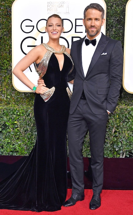 Blake Lively, Ryan Reynolds, 2017 Golden Globes, Couples