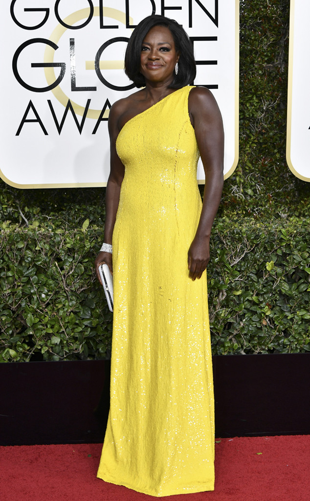 Viola Davis, 2017 Golden Globes, Arrivals