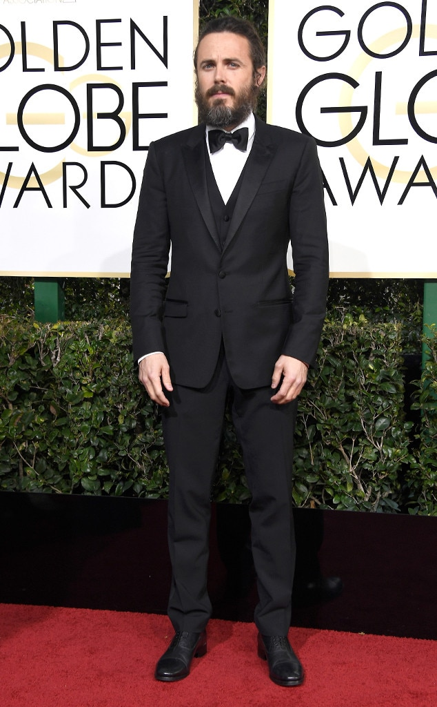 Casey Affleck, 2017 Golden Globes, Arrivals