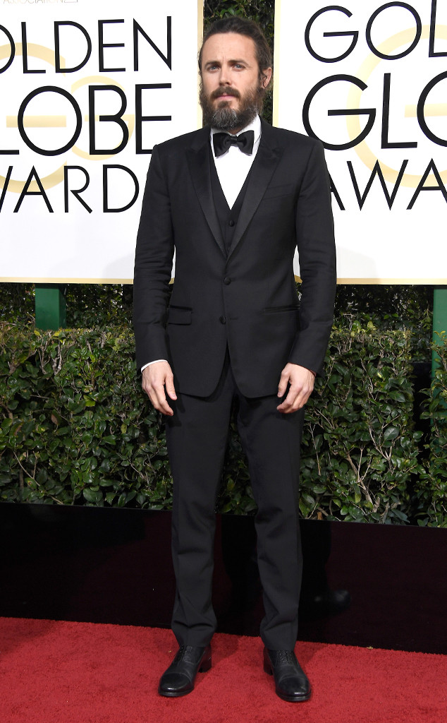 Casey Affleck, 2017 Golden Globes, Arrivals