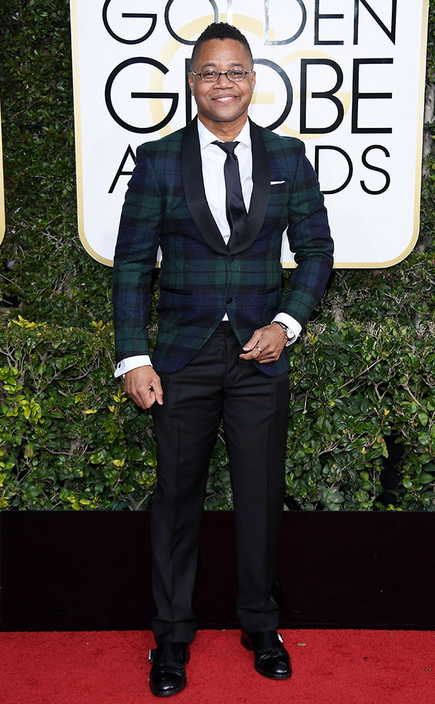 Cuba Gooding Jr., 2017 Golden Globes, Arrivals