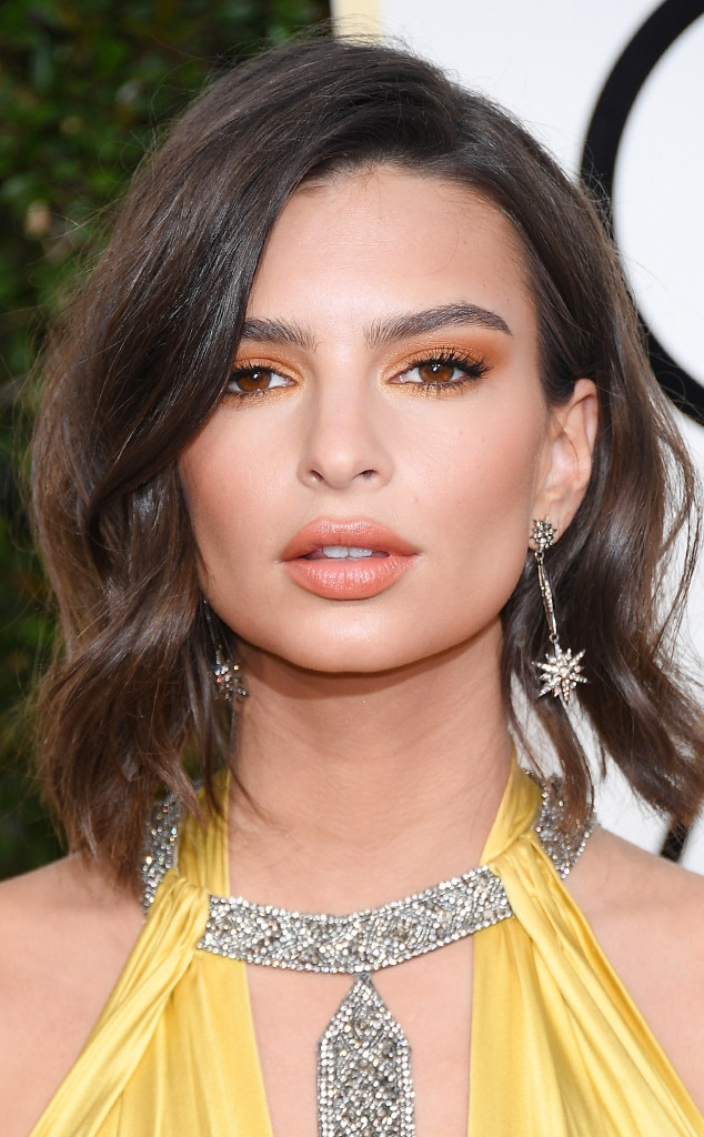Emily Ratajkowski makeup golden globes 2017 | The Beauty Vanity