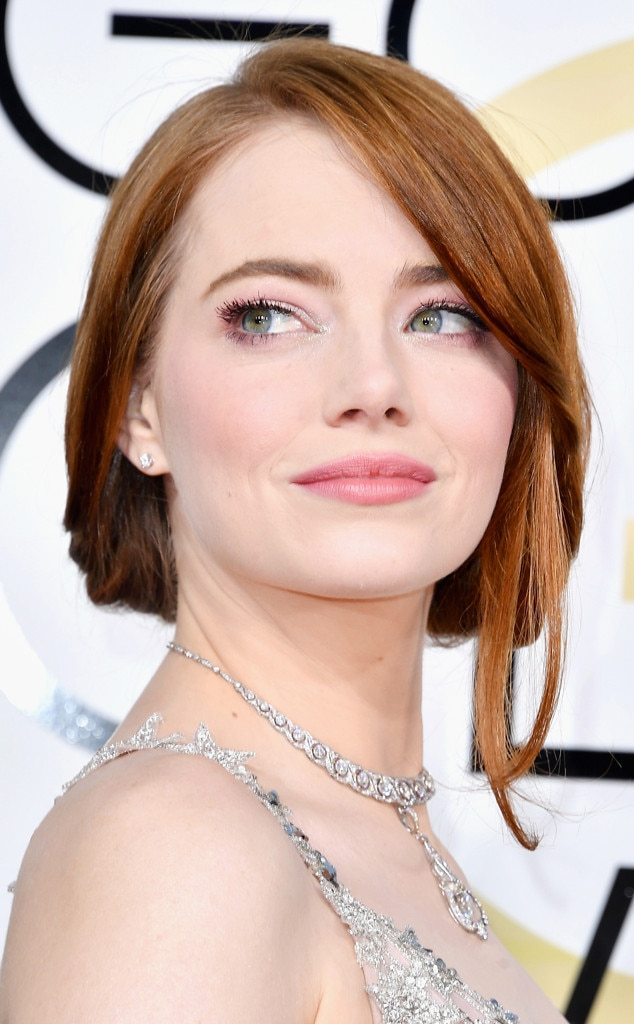 Emma Stone from 2017 Golden Globes' Best Beauty Looks | E ... Emma Stone Golden Globes