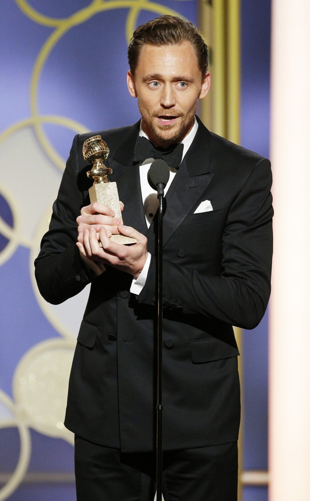 Tom Hiddleston, 2017 Golden Globes, Winners