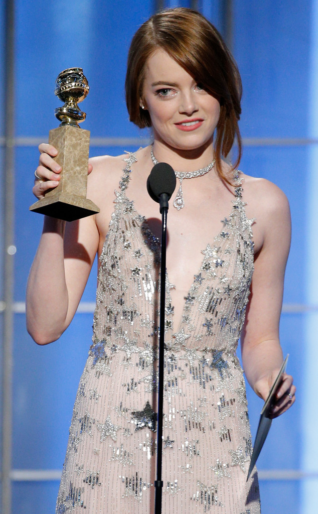 Emma Stone, 2017 Golden Globes, Winners