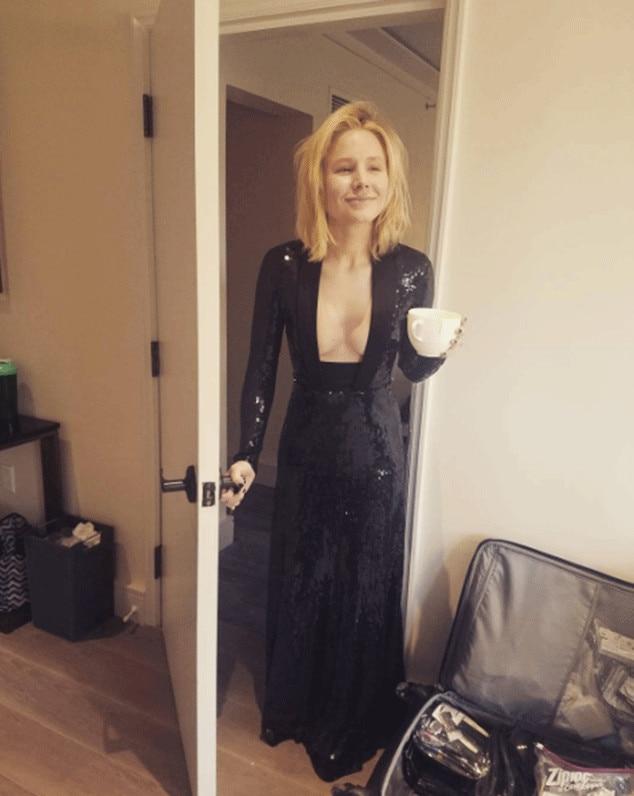 Kristen Bell, Golden Globes 2017, Instagram