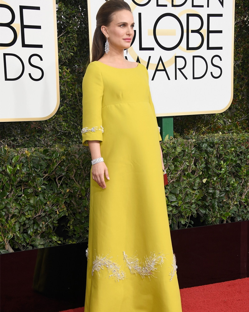 Natalie Portman, 2017 Golden Globes, Instagram