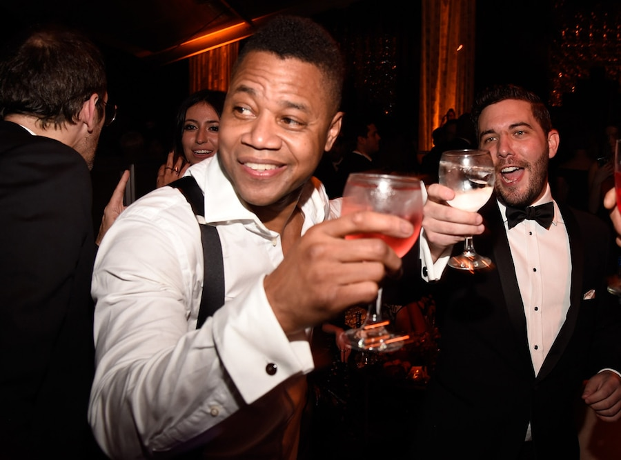 Cuba Gooding Jr. , Golden Globes 2017 Party Pics, The Weinstein Company and Netflix