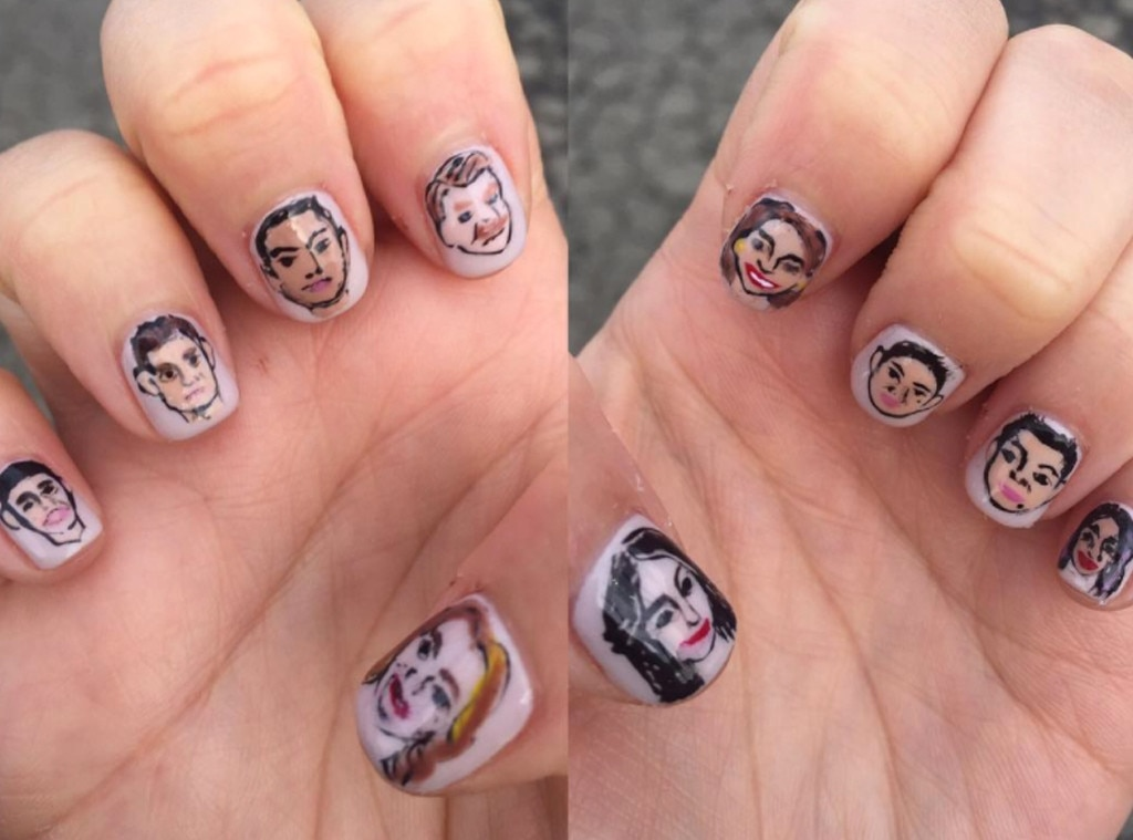 Rachel Bloom, nails