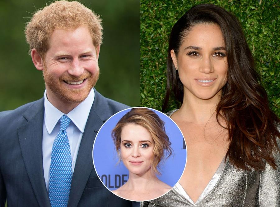 Prince Harry, Meghan Markle, Claire Foy