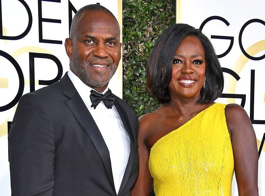Viola Davis, Julius Tennon, 2017 Golden Globes, Couples
