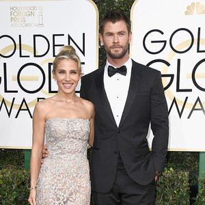 Chris Hemsworth, Elsa Pataky, 2017 Golden Globes, Couples
