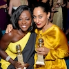 Viola Davis, Tracee Ellis Ross, Golden Globes 2017 Party Pics, Instyle and Warner Bros