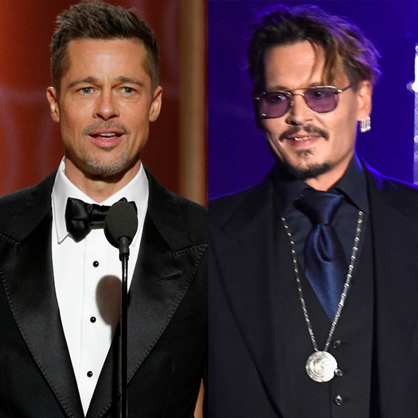Brad Pitt, Johnny Depp, 2017 Golden Globes