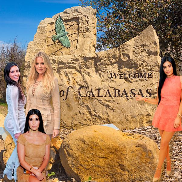 Kim Kardashian, Kourtney Kardashian, Khloe Kardashian, Kylie Jenner, Calabasas