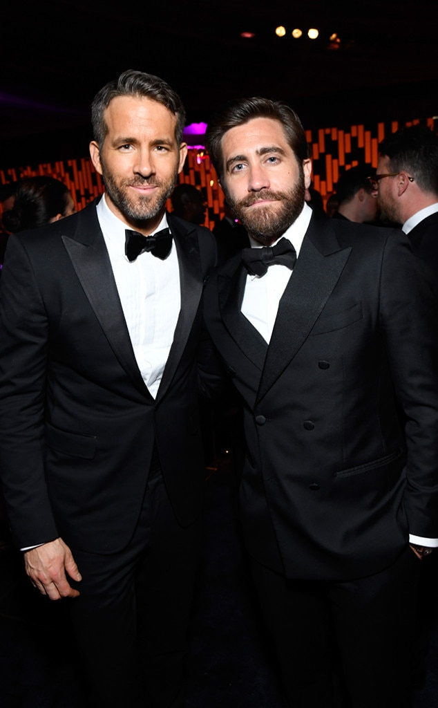 Ryan Reynolds, Jake Gyllenhaal, Golden Globes 2017 Party Pics, Instyle and Warner Bros.