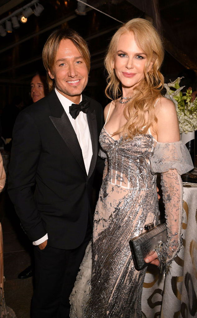 Keith Urban, Nicole Kidman, Golden Globes 2017 Party Pics, HBO
