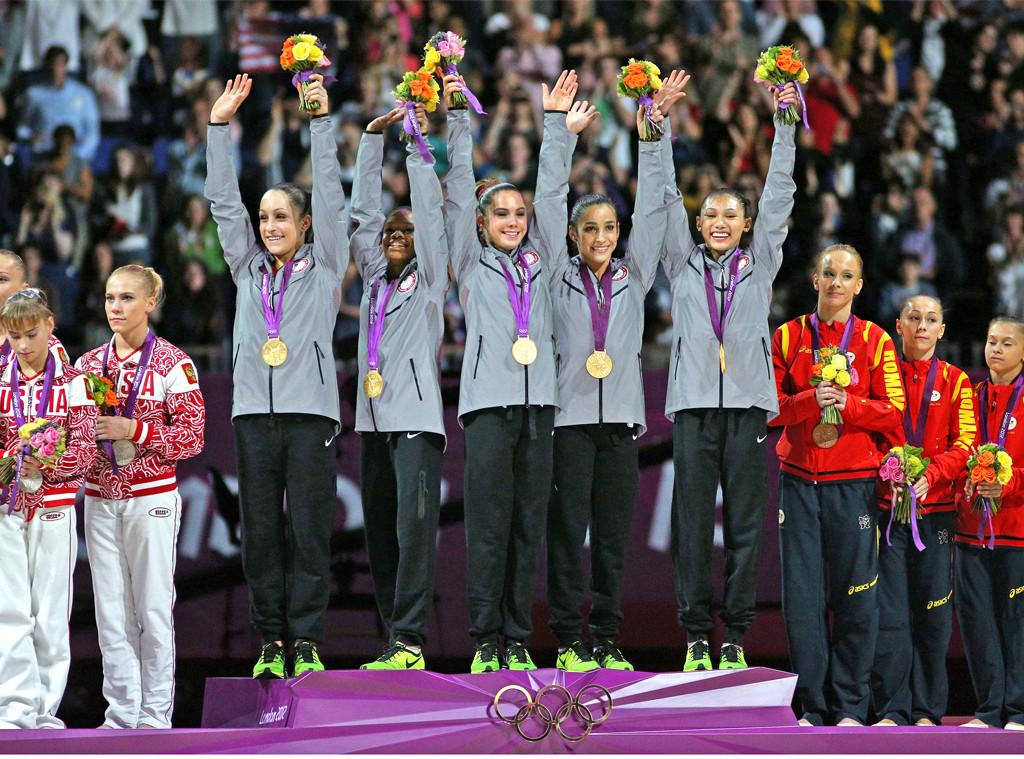 U.S. Women's Gymnastic Team, 2012 Olympics, Aly Raisman, Gabby Douglas, Jordyn Wieber, McKayla Maroney, Kyla Ross