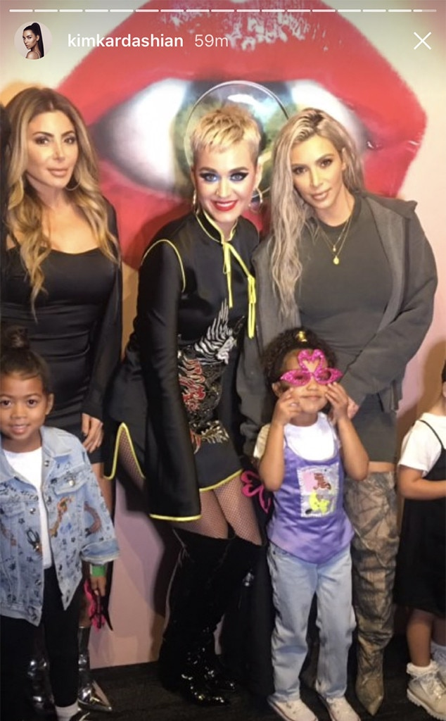 Kim Kardashian, North West, Katy Perry, Larsa Pippen