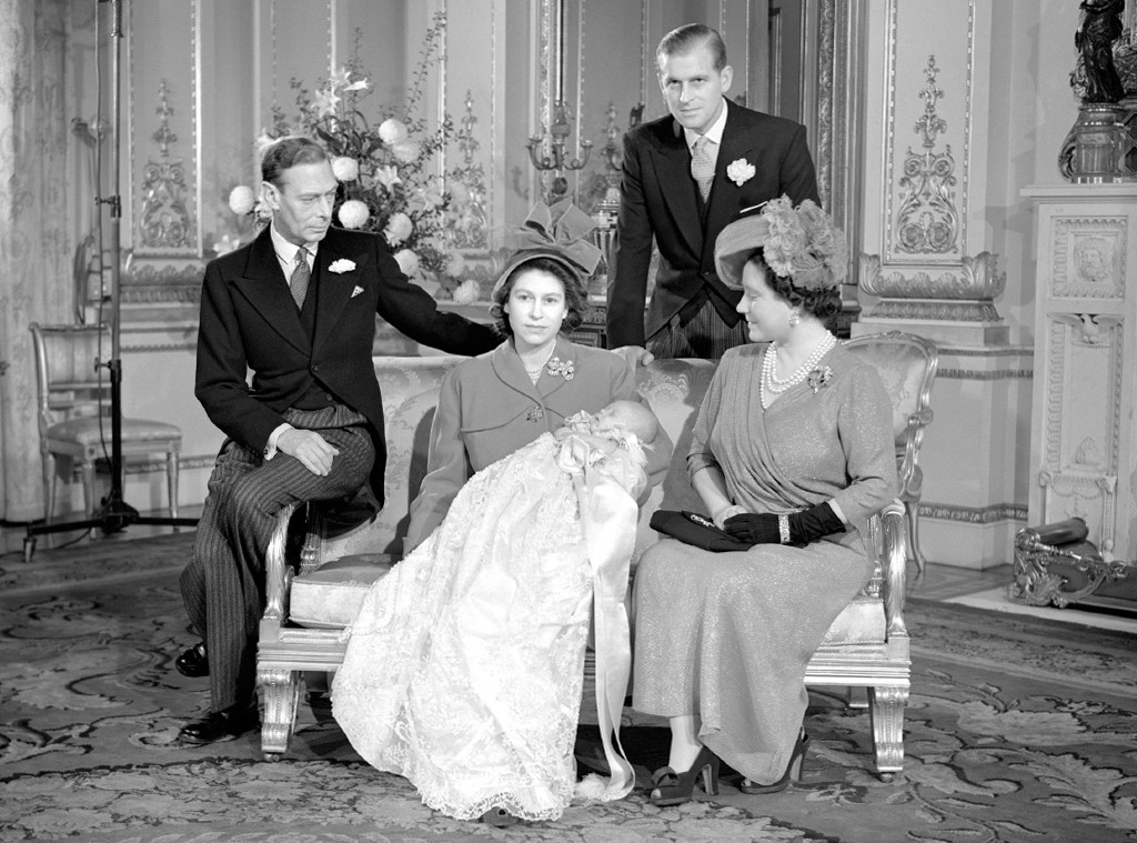 Queen Elizabeth, Prince Charles, Prince Philip, Christening