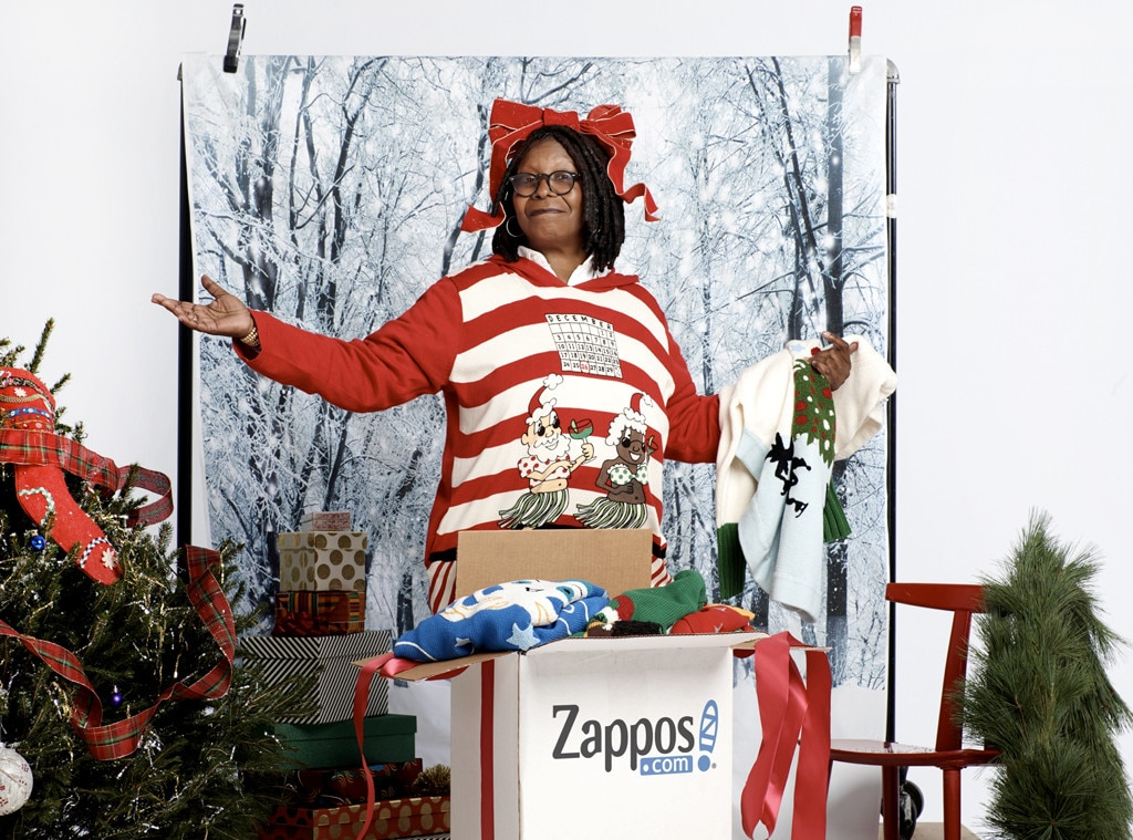 Whoopi Goldberg, Stars in Ugly Holiday Sweaters