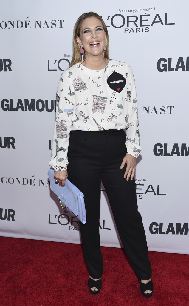 Drew Barrymore, Glamour Women of the Year Awards, 2017