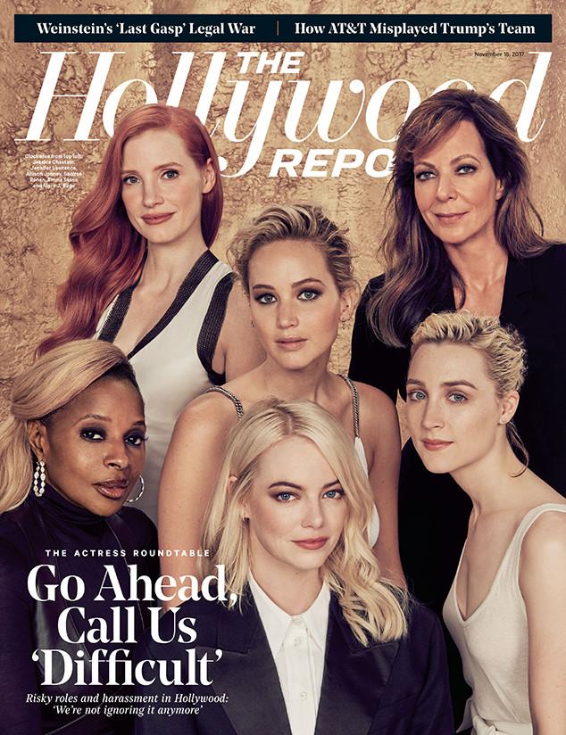 The Hollywood Reporter, Mary J. Blige, Jessica Chastain, Allison Janney, Jennifer Lawrence, Saoirse Ronan, Emma Stone