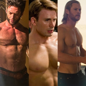 Shirtless Marvel Superheroes