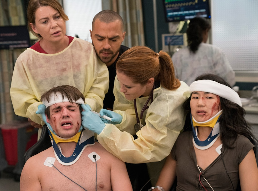 Grey's Anatomy, Ellen Pompeo, Jesse Williams, Sarah Drew