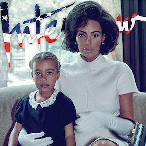 Kim Kardashian, North West, Interview Magazine