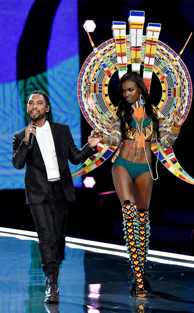 2017 Victorias Secret Fashion Show, Miguel, Leomie Anderson