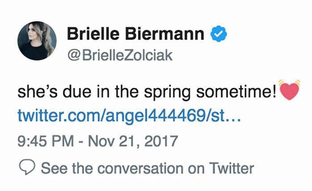 Brielle Biermann, Twitter