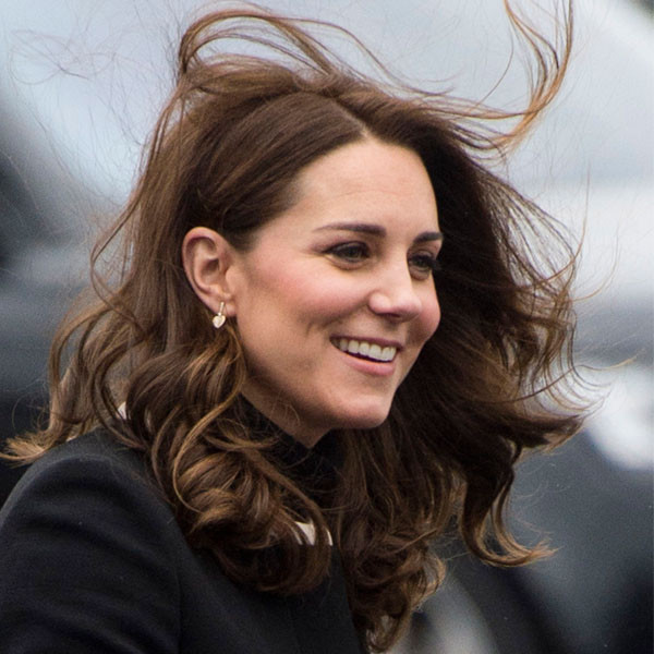 Kate Middleton's Hair Is Windswept, but Somehow Still Perfect