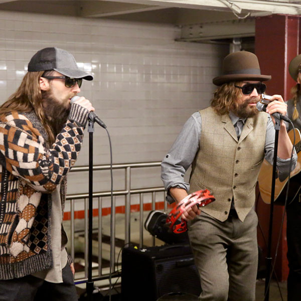 Jimmy Fallon's Best Subway Musical Surprises With Adam Levine, Miley Cyrus and U2