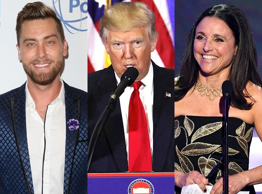 Lance Bass, Donald Trump, Julia Louis-Dreyfus