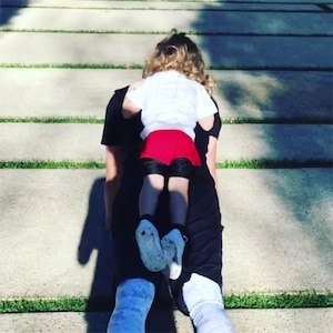 Justin Timberlake, Son, Silas, Workout, Push-Up, Post-Thanksgiving, 2017