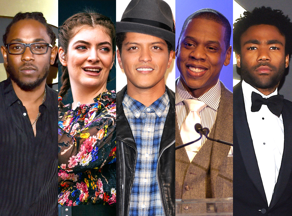 Childish Gambino, Jay Z, Lorde, Kendrick Lamar, Bruno Mars