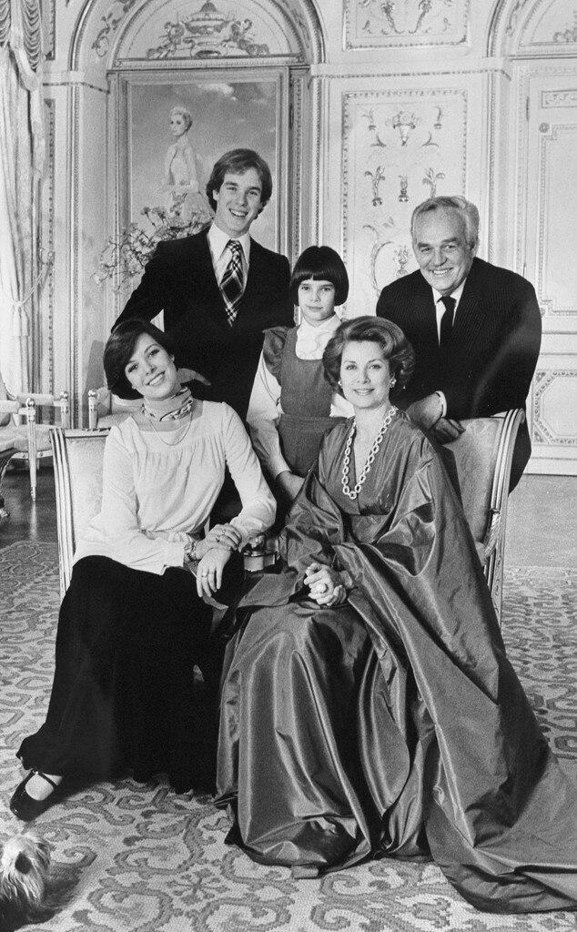 Princess Caroline, Princess Grace Kelly, Prince Albert, Princess Stephanie, Prince Rainier III of Monaco
